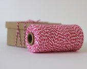 Hot Pink & White Bakers Twine - 10 metres - Perfect for Valentines Gift Wrapping and Craft