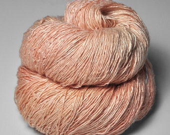 Old flamingo OOAK - Tussah Silk Fingering Yarn
