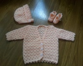 Crocheted Baby Sweater Set
