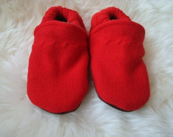 Upcycled Wool Baby Slippers 18-24 Months