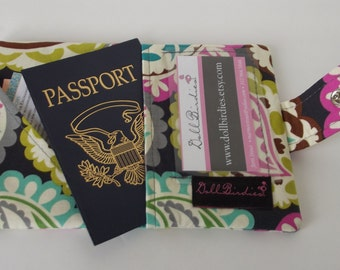 Dollbirdies Small Passport Wallet with ID Window