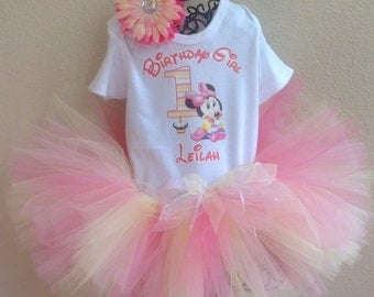 Minnie Mouse Birthday, Minnie Mouse 1st Birthday, Minnie Mouse Birthday Tutu, Birthday Girl, Minnie Mouse Birthday Outfit