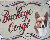 CORGI personalized dog door mat,airbrush,doormat,pet gift