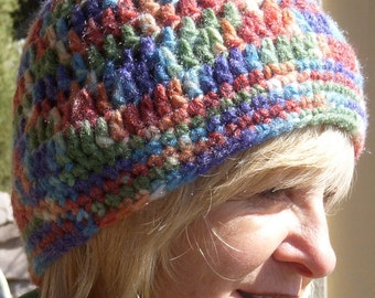 Skullcap women's Crochet Hat bohemian Accessories Unique winter hat