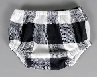 SALE 50% OFF Boys diaper cover buffalo check diaper cover black and white boys nappy cover - Little Lukey