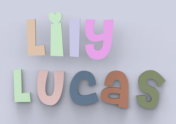 Wood Name Wall Decor : Children s wood names nursery wall decor letters by