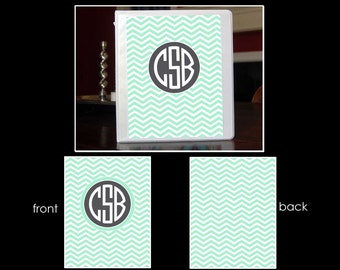 Chevron Personalized Monogram Notebook Insert for 3 Ring Binder or Printable
