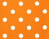1/2 Yard--Polka Dot in Tennessee Orange by Premier Prints