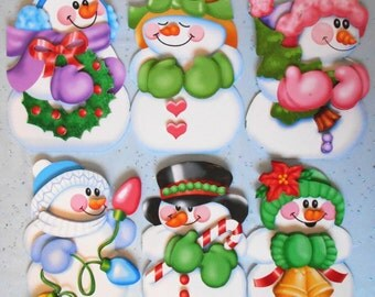 Printable 3D Snowmen Christmas Card Kit