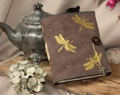 Handmade Leather Journal  Dragonfly