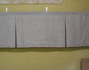 Tailored Valance-Tailored Window Treatment for Added Monogram-Nursery Window Treatment-Rod Pocket-Board Mount-Tailored Valance for Monogram
