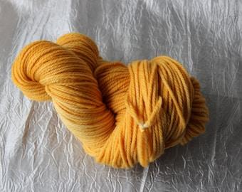 Hand Dyed Uruguayan Merino Yarn Sunburst Yellow 100G