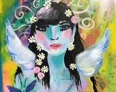 Angel of Clarity and original acrylic on canvas painting