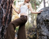 Organic Cotton Wideleg Flow Pants with Cinch Up Waistband