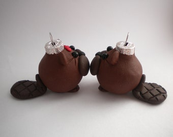 Beaver Mini Christmas Ornaments