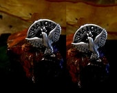 Jewish Shalom Cufflinks in solid sterling silver Free Domestic Shipping