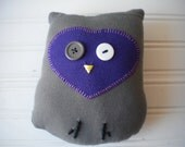 Olive Green and Grape Love Owl