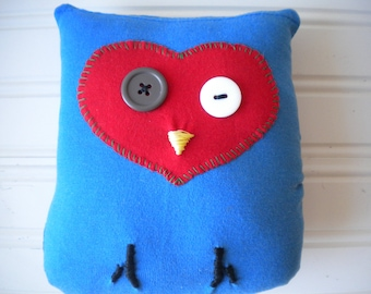 Red and Blue Love Owl