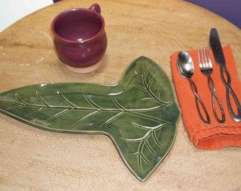 MADE TO ORDER, Mallorn Leaf inspired platter