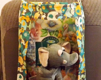 Elephants on parade print Car organizer car seat organizer toy organizer