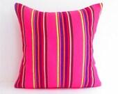 Pink pillow, Dark pink cushion, Tribal Pillow Cover, aztec, Bohemian Decor, Boho Bedding, Mexican Cushion, Square, tribal pillowcase.