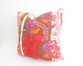 "CLEARANCE sale Red Pink Purple Pillows Decorative Pillows, Bohemian Chic Pillows, Boho Cushions, Patchwork Cushion, Bohemian Pillow Case 18"""