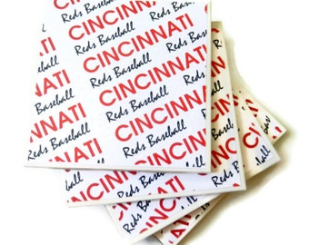 Cincinnati Coasters, Reds Coasters, Baseball Coasters, Cincinnati Reds Baseball Coasters, Ceramic Coasters, Sport Coasters, Gift For Him