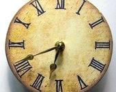 Small wall clock. Victorian clock.  Replica of a Victorian clock.  Recyled CD.  Modern vintage clock.