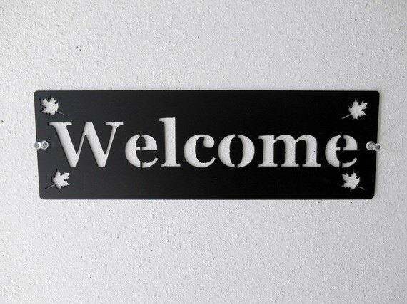 Welcome Sign Metal Art Wall Decor