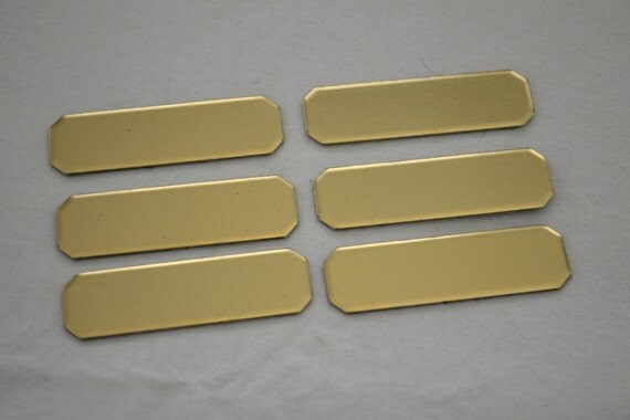 Lot 6 Brass Name Plates blank