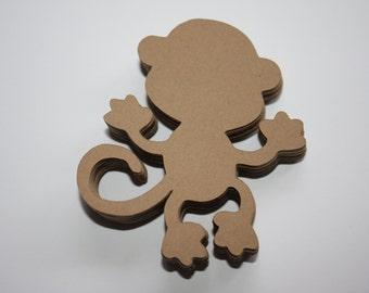 24 x Monkey Die Cuts - Brown