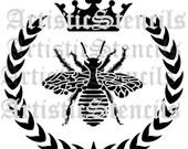 STENCIL French Queen Bee Wreath Crown New Large Size 16 Inch
