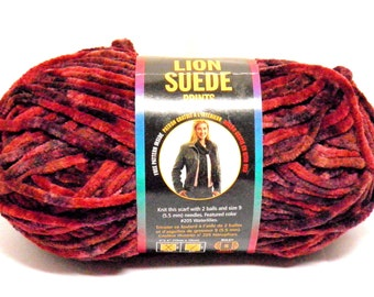 Lion Brand Suede Yarn Skein Suede Orchard Yarn Bulky Weight Yarn Rare DISCONTINUED