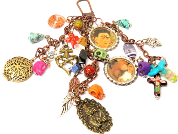 Day of the dead necklace halloween necklace skull for Day of the dead body jewelry