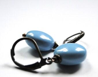 SALE Boho Chic Earrings//Swarovski Pearl Drop Earrings//Gift for Her//Accessories//Beach Wear//Jewelry, Spring and Summer Earrings, Gift Box