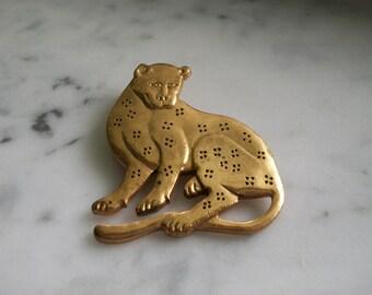 Vintage Metropolitan Museum of Art Leopard Brooch Pin