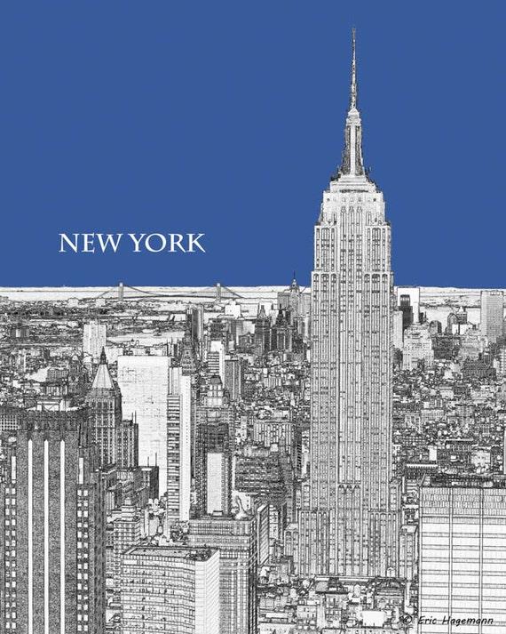 Line Art New York : New york art rock line graphic print
