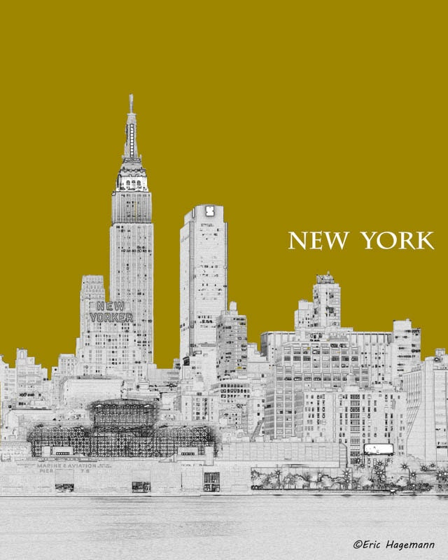 Line Art New York : New york art empire state building line graphic print