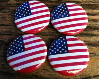 United States Flag - Pinback Button, Magnet, Mirror, or Bottle Opener