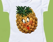 Pineapple shirt, fruit tee, One Piece, Baby Bodysuit, Hawaiian T-Shirt ,Anthropomorphic, girls clothes, boys clothesby ChiTownBoutique.etsy