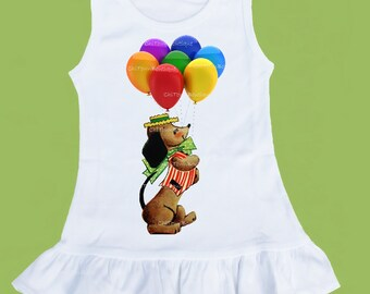 Dachshund  dog, Circus Dress, Baby circus, Balloon Circus Dog, 1st Birthday, Ruffle Dress,Baby Shower, Toddler Girls ChiTownBoutique.etsy