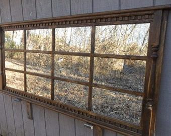 Mantel  window  mirror  stained    Early American
