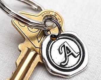 Summer Party Personalized Keychain Dad Keychain Monogram Keychain add on Initial Keychain Custom Keychain Wax Seal Personalized Gift Idea