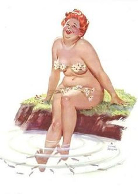 Vintage Pin Up Girl Playing Cards-Hilda-Risque-Unused