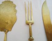 Vintage antique kitchen serving utensils Set.40s