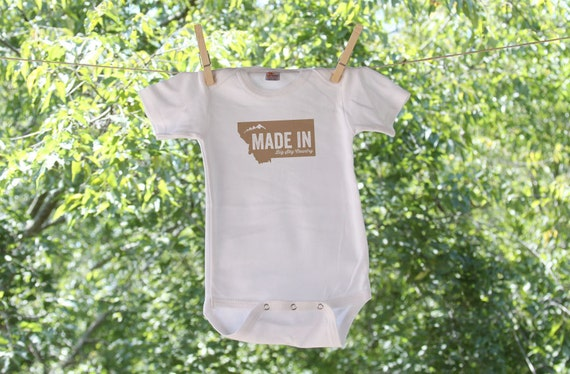 Made In Montana Bodysuit - graphic colors are customizable