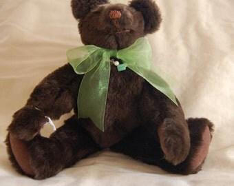 Handcrafted Dark Brown Teddy Bear
