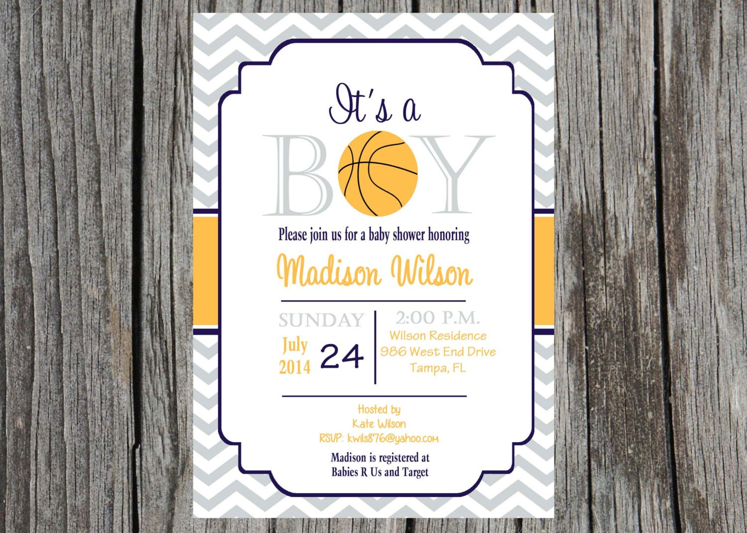 basketball baby shower invitation basketball by printyourevent