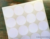 """400 Recycled White Stickers, 2"""" circles, recycled stickers, eco-friendly stickers, 2 in. (51mm) round labels  (20 sheets)"""