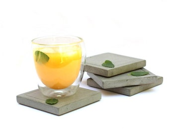 SALE: Square Concrete Coaster - set of 4